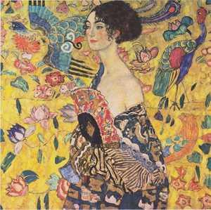 Obraz Klimta - Dama z wachlarzem