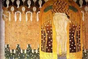 Dzieło Klimta - Fryz Beethoven - Oto pocałunek dla całego świata