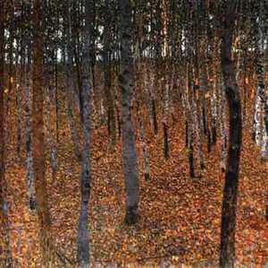 Obraz Klimta - Las bukowy