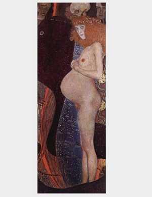 Obraz Klimta - Nadzieja -  The Hope I - Die Hoffnung I