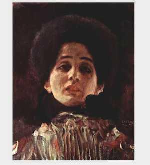 Obrazy Gustava Klimta - Portret kobiety - en face