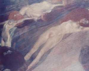 Poruszająca się woda - Wzburzona woda - Obraz Klimta