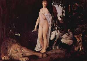Obraz Klimta - Akt z lwem
