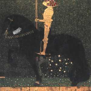 Obraz Klimta - 'Życie jest walką' lub 'Złoty rycerz'
