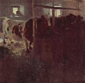 Obraz Klimta -  Krowy w oborze