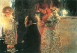Obraz Klimta - 'Schubert przy fortepianie.'