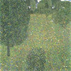 Pole kwiatów - obraz Gustava Klimta