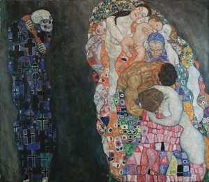 Obraz Klimta - Śmierć i życie /  Death and Life