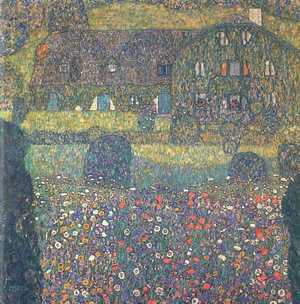 Gustav Klimt - Landhaus am Attersee - Country House at the Attersee-Dom na wsi w Attersee
