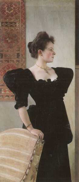 Klimt - Portret Marie Breunig -Portrait of Marie Breunig