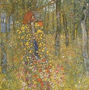 Gustav Klimt - Ogród wiejski z krucyfiksem - Country Garden with Crucifix